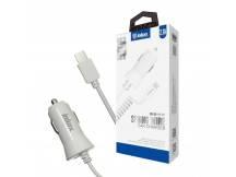 Cargador auto Inkax c/Cable MicroUSB integrado 2.1A
