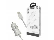 Cargador auto Inkax c/Cable Iphone integrado 2.1A