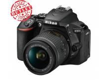 Camara Nikon D5600, 24mp, lente 18-55, Wifi, reflex profesional (usada con detalles)