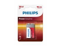 Bateria alcalina Philips 9V