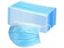 Tapabocas tipo quirúrgico triple filtro x 50