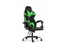 Silla Gamer Lumax ROM negro/verde