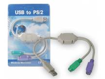 Adaptador USB a doble PS2