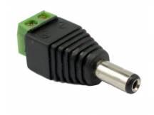 Conector 12v 2.1mm dc macho para CCTV