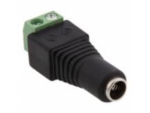 Conector 12v 2.1mm dc hembra para CCTV