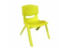 Silla de plástico para niño amarillo