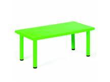 Mesa de plástico rectangular verde