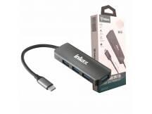 Hub USB Inkax 4 puertos USB 3.0 Tipo C